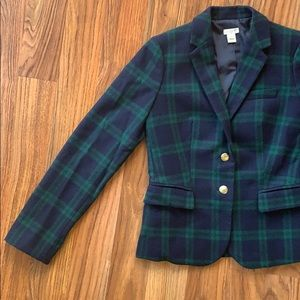 Jcrew factory wool plaid blazer size 2